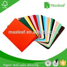 Material da pasta de cores para impressão a cores A4 e papel fotográfico fonte de papel