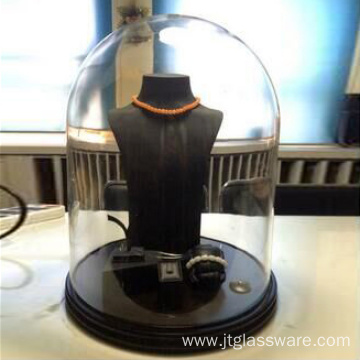 Airtight Borosilicate Glass Dome With Base