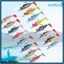 2 / 3 ′ / 5 Beliebtes Soft-Lead-Fischfischen-Köder-Angelgerät