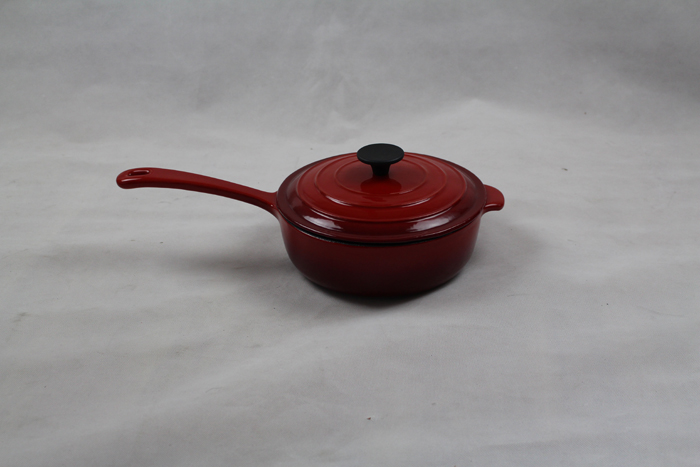 Red Cast Iron Casserole With Handle