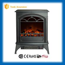 Nuevo diseño de calentador eléctrico de la chimenea de madera para la decoración del hogar y la calefacción