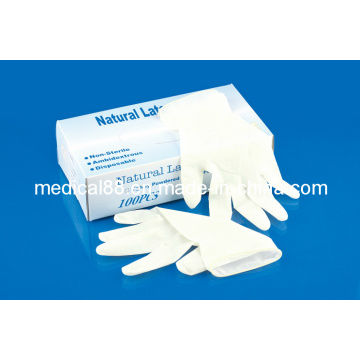 Disposable Medical Latex Examination Gloves (S, M, L, XL)
