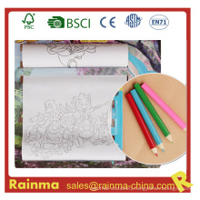 "Kids Drawing Roller Paper Set with 3.5""Color Pencil"