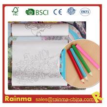 Детский рисунок роликовой бумаги с 3,5-дюймовым цветным карандашом