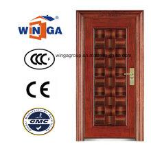 Porta de ferro de aço metálica exterior de segurança do mercado médio (WS-120)