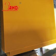 Dark Yellow Polyurethane Plastic Sheet