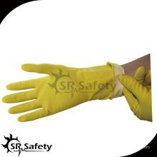 SRSAFETY желтые резиновые латексные длинные перчатки для мытья посуды