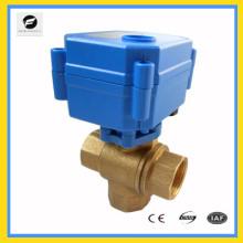 Soupape de déviation d'eau électrique de 3 manières en laiton pour l'équipement d'automobile, chauffe-eau solaire de système d'eau, condition de l'air