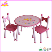 Children Kids Furniture Company - Table en bois et chaises (W08G076)