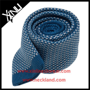 High Quality Silk Straight Cut Ends Knit 100 Tie