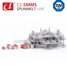 CL-SMMS PP Spunbond Meltblown Composite Nonwoven Fabric Making Production Machinery Line For wet tissue