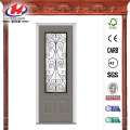 Glass 3/4-Lite Finished Oak Fiberglass Front Door