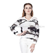 Silk Shirt with Printing, 18mm Weight