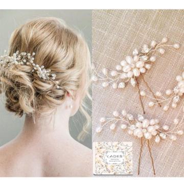 LADES 3 Pack Bridal Hair Pins Wedding Accessories
