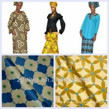 Promoción 10 Yardas / bolsa Azul Púrpura Fashioin Impreso Damasco Shadda Bazin Riche Guinea Brocade Tela Africana de la Ropa 5% OFF
