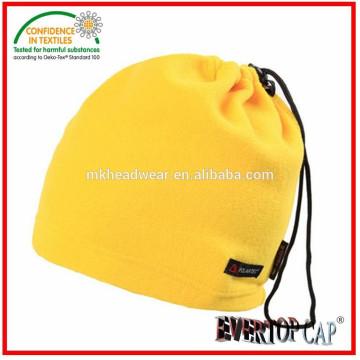 Adulto usado chapéu do aquecedor do pescoço, 100% poliéster chapéu de lã polar, multi-usado chapéu do aquecedor do pescoço