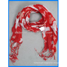 linen printed long dog scarf accessories