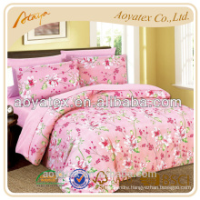 Microfiber soild bedding set