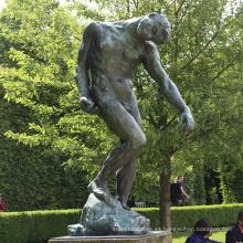 decoración interior de alta calidad famosa rodin obras pensador bronce escultura