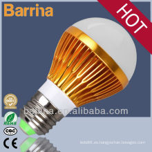 CE RoHs certificado oro SMD led bombilla lámpara