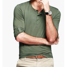 Männlich Plain Blank Light Slim Fit Grüne T-Shirts