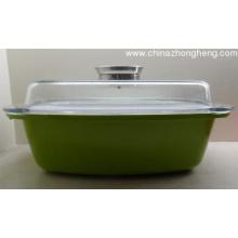 Die-Casting ceramic square aluminum cooking pot