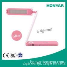 Lovely LED Portable Desk Light with White/Pink/Black Colors
