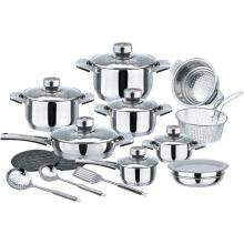 21pcs wide edge cookware set
