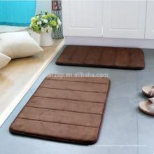 tapis de bain absorbant en mousse viscoélastique sans support en caoutchouc