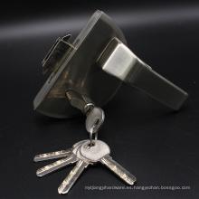 Cerraduras de puerta de cristal oscuras material de alta calidad del acero inoxidable con la manija