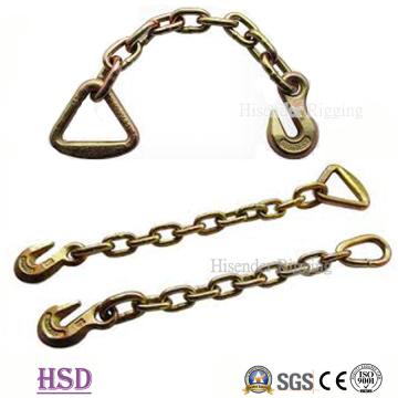 Eslabón de cadena de amarre G80 con material de acero aleado