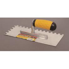 Ferramentas manuais entalhado dentes reboco espátula para decoração de construção