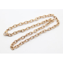 Nova chegada Rose Gold Plating aço inoxidável Texturizado Cabo Chain