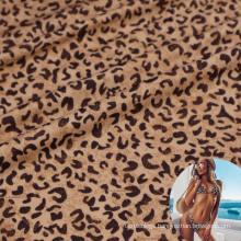 Alibaba china 92 nylon 8 spandex leopard print lingerie fabric for sexy underwear
