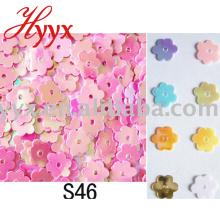 Blingbling coloré fleur forme confettis partie décoration