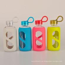 Top-Qualität Everich Sport-Glas-Wasserflasche mit Silikonhülle