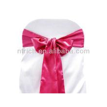 fucsia, marco de la silla del satén lujo vogue corbata, pajarita, nudo, cubiertas de la silla baratos boda y fajas para la venta