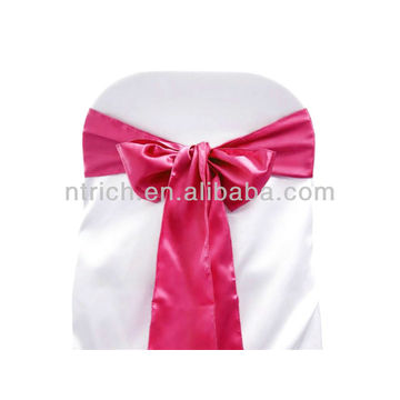 fuchsia, fancy vogue satin chair sash tie back,bow tie,knot,wedding cheap chair covers and sashes for sale