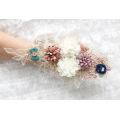 Nuevo parche de bordado de cuerda de tela de encaje 3D de vestido