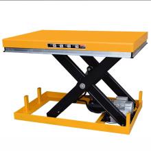 Table élévatrice hydraulique électrique stationnaire résistante de ciseaux