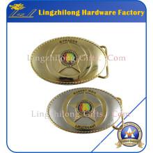 Boucle de ceinture en métal à deux tons