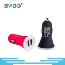 Cargador de emergencia colorido cargador de coche USB dual