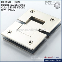 Stainless Steel Glass Hinges For Bathroom