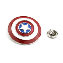 Superhero Captain America Metal Lapel Lencana