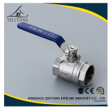 2Piece Stainless Steel water ball valve cf8m DN25 with locking device