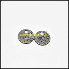 Étiquette métallique classique bouton de vêtement
