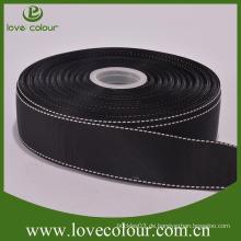 """Billig Großhandel Polyester schwarz 1 """"Grosgrain Band zum Verkauf"""