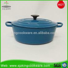 Utensilios de cocina al por mayor Sartén antiadherente esmalte azul de hierro fundido con el mejor precio