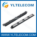 1U 19 pulgadas 24port(4*6) Patch Panel tipo etiqueta Cat.5e y Cat.6