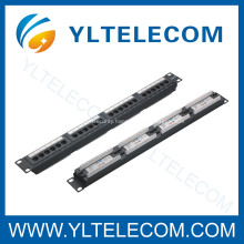 1U 19inch 24port(4*6) Patch Panel with Label Cat.5e and Cat.6 type